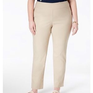 Plus Size Tummy-Control Pull-On Pants Size 28W